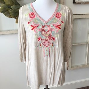Women's M summer embroidered tunic